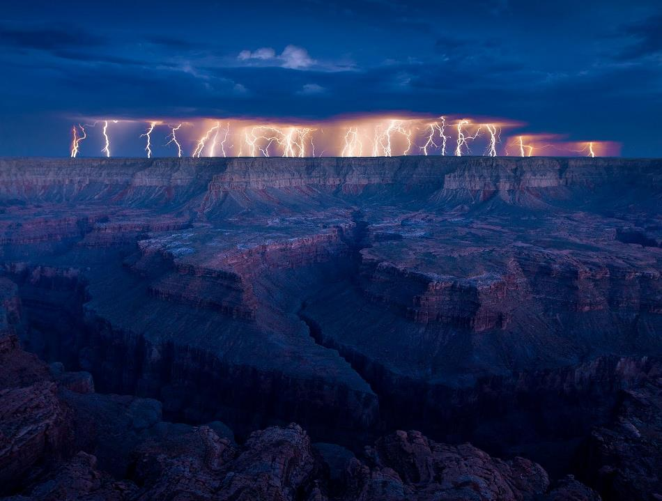 Lightning at the Grand Canyon
