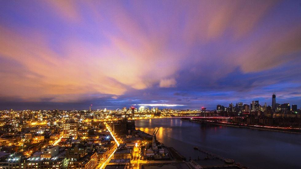 Hurricane Sandy Brooklyn and Manhattan Sunset