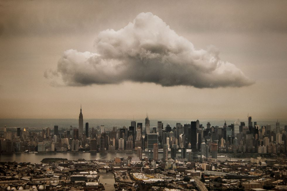 A Perfectly Placed Cloud Over The New York City Skyline
