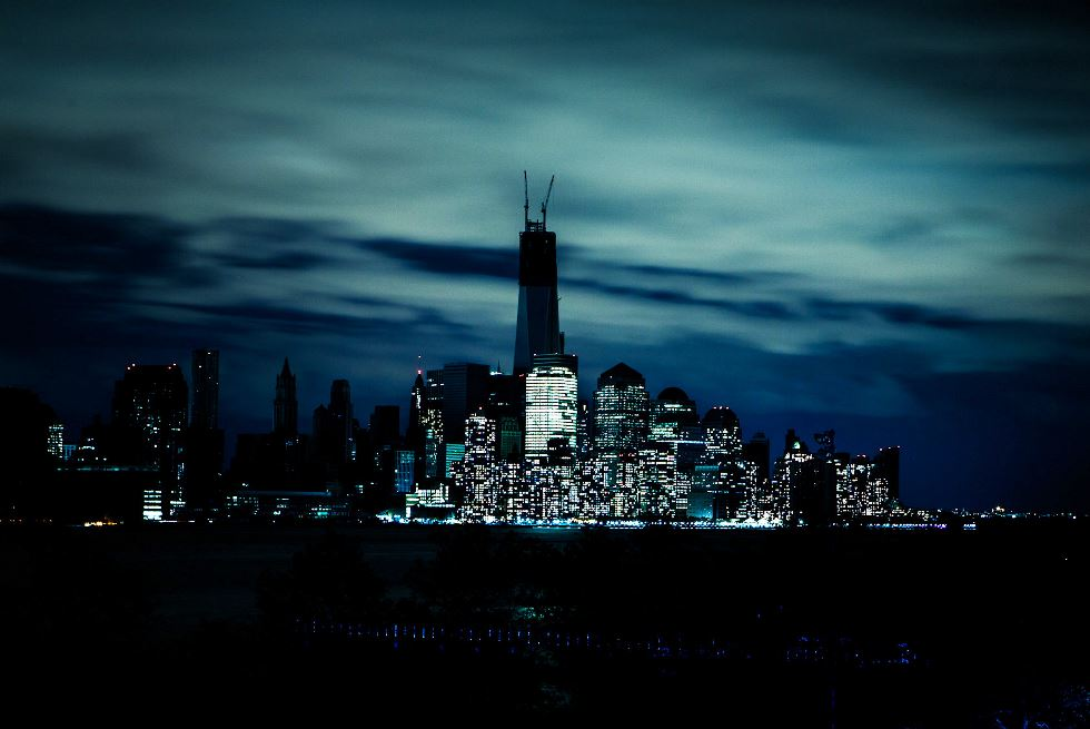 New York City Blackout During Hurricane Sandy Photograph
