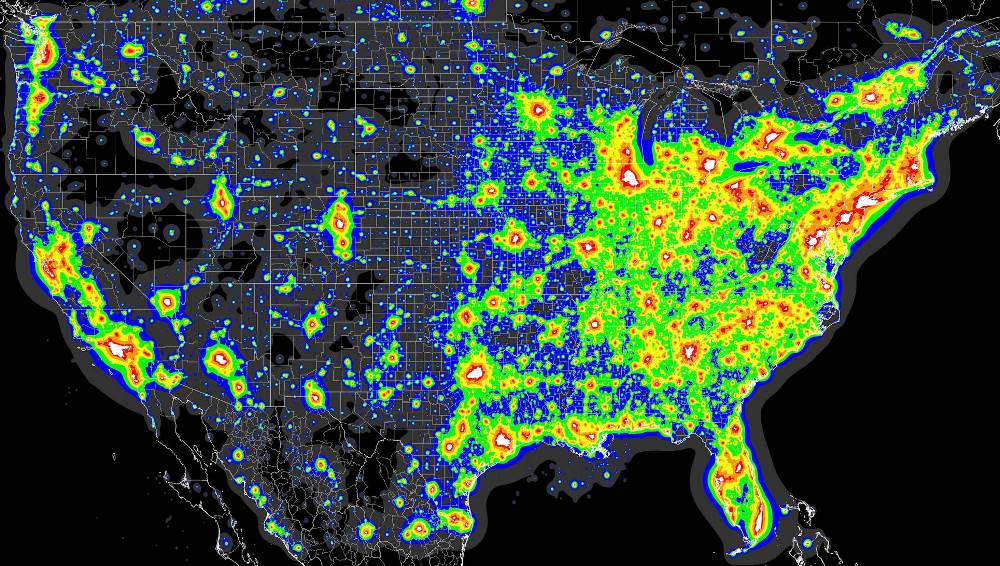 light pollution united states map An Illuminating Look At Light Pollution