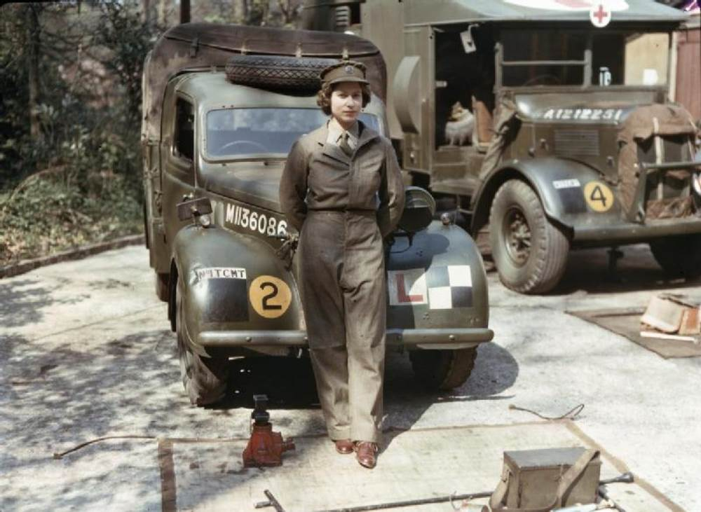 Queen Elizabeth World War 2 Mechanic