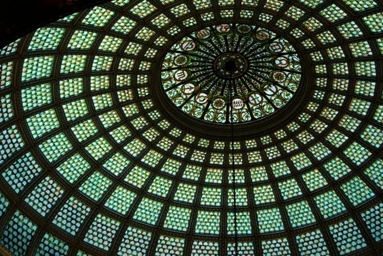 Magnificent Stained Glass Chicago Cultural Center 1