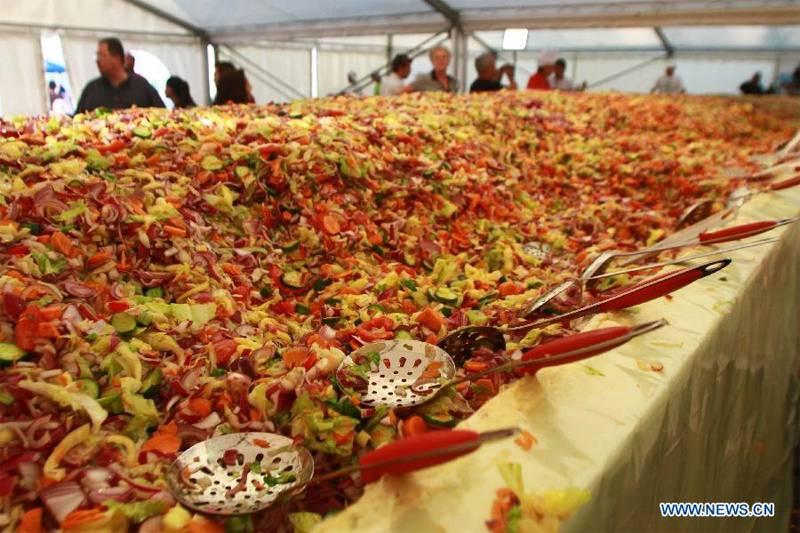World's Largest Salad width=