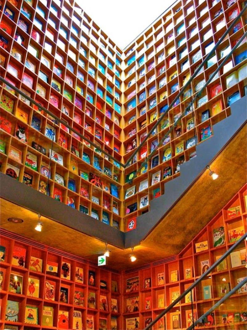 Coolest Libraries Picture Book Shelves