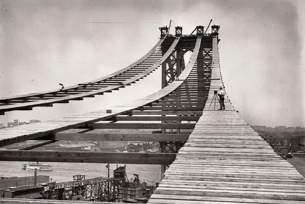 Construction Of The Manhattan Bridge