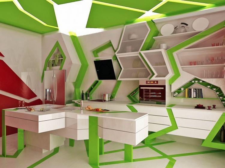 Cool Geometric Kitchen