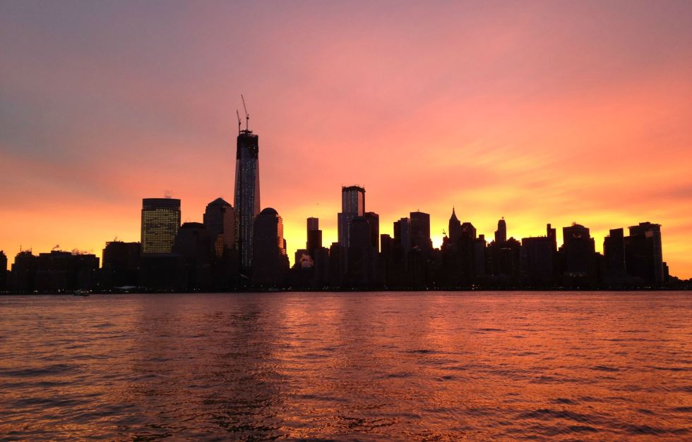 Good Morning Downtown-new-york-city-sunrise
