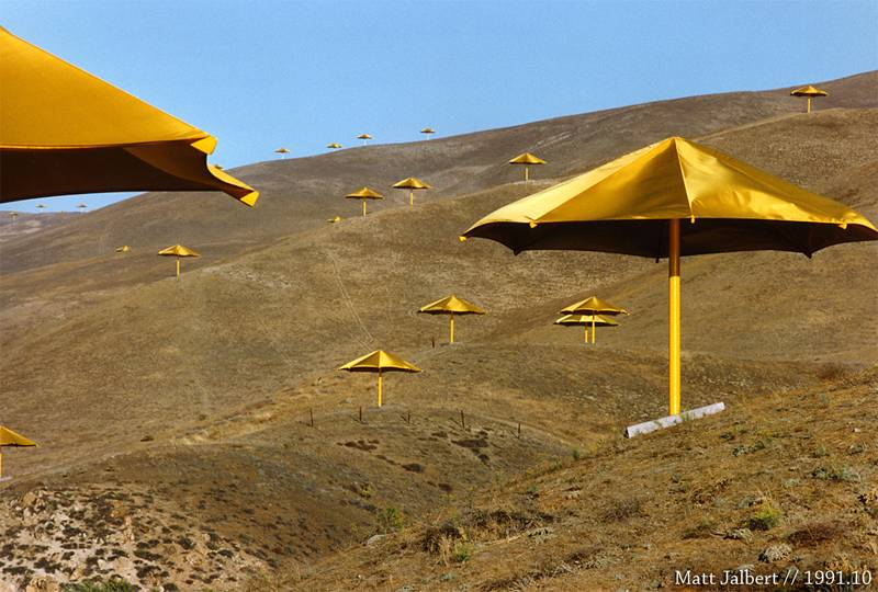 Incredible Christo Works Umbrella 2