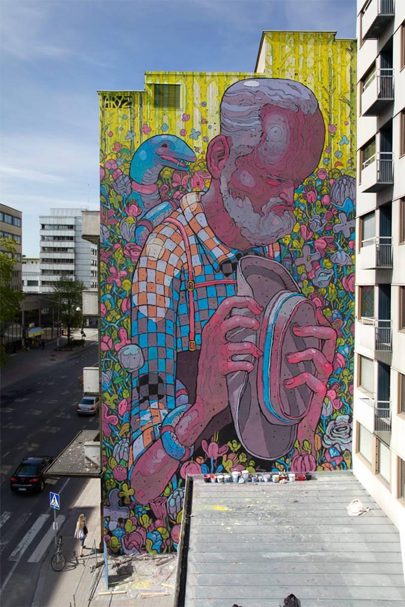Best graffiti artists aryz photograph
