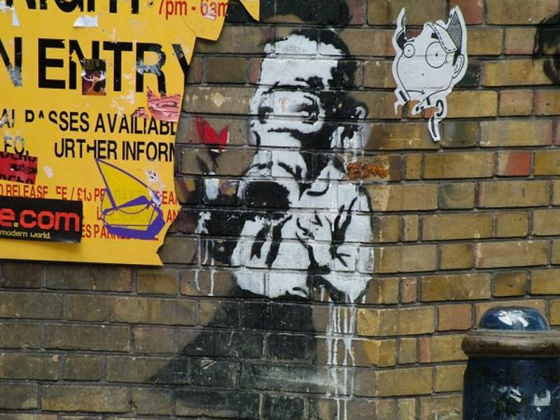 four truly remarkable outdoor artists banksy2 A Taste Of The Worlds Best Graffiti Artists