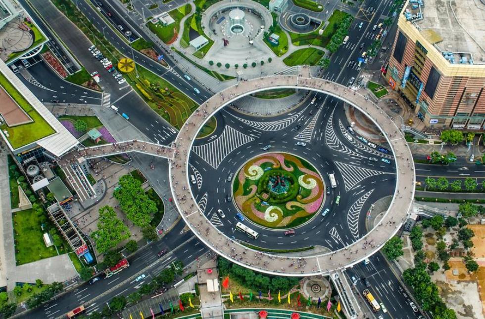Circular Pedestrian Bridge Shanghai