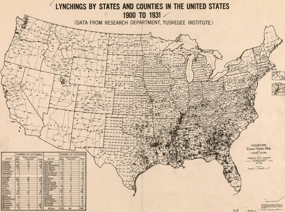 lynchings america map A Harrowing Map Of Lynchings In America