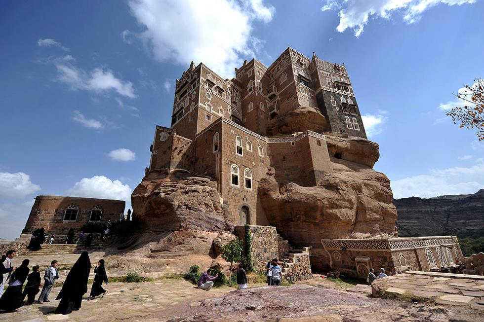rock palace yemen Yemens Rustic Rock Palace