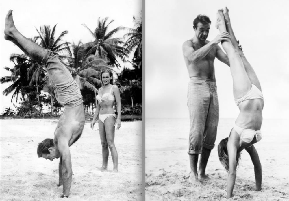 Sean Connery Teaches Handstand