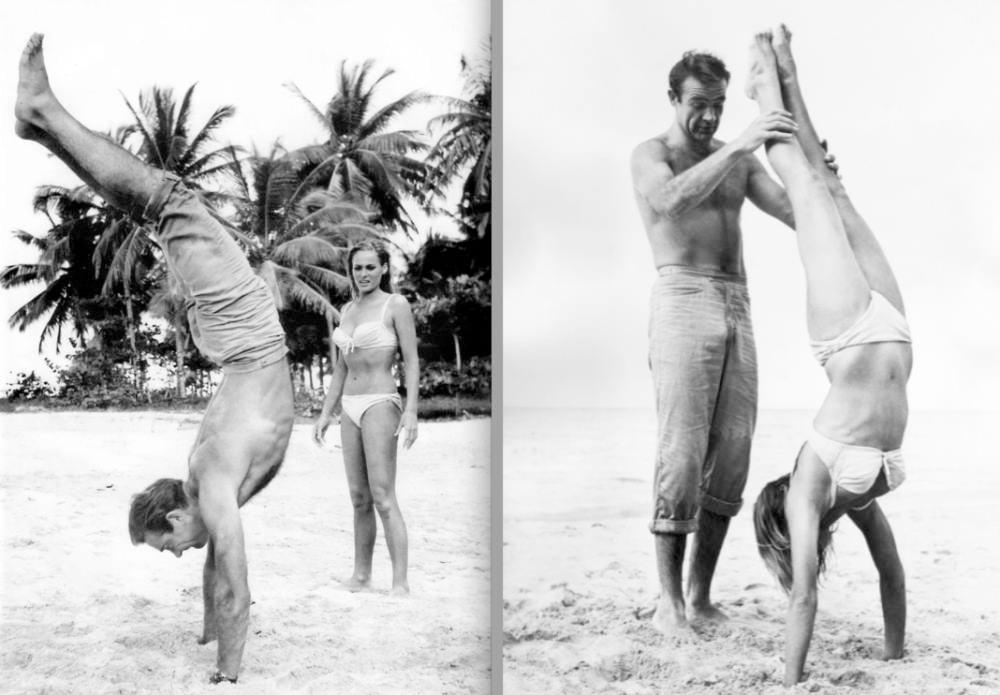 Sean Connery Teaches Handstand