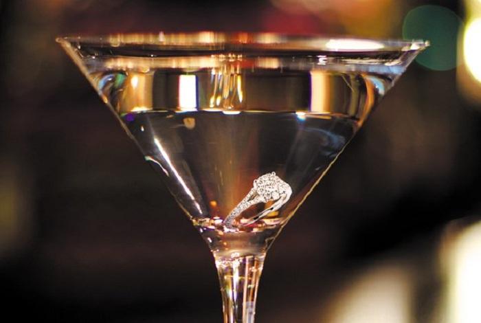 coolest drinks diamond in glass