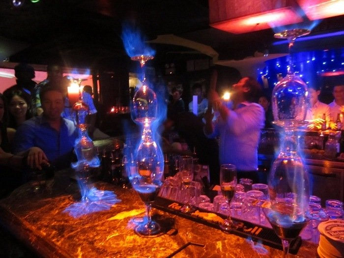 Coolest Drinks Flaming Lamborghini