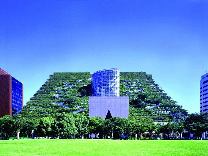 Green Design Green Roof Fukuoka Prefectural International Hall