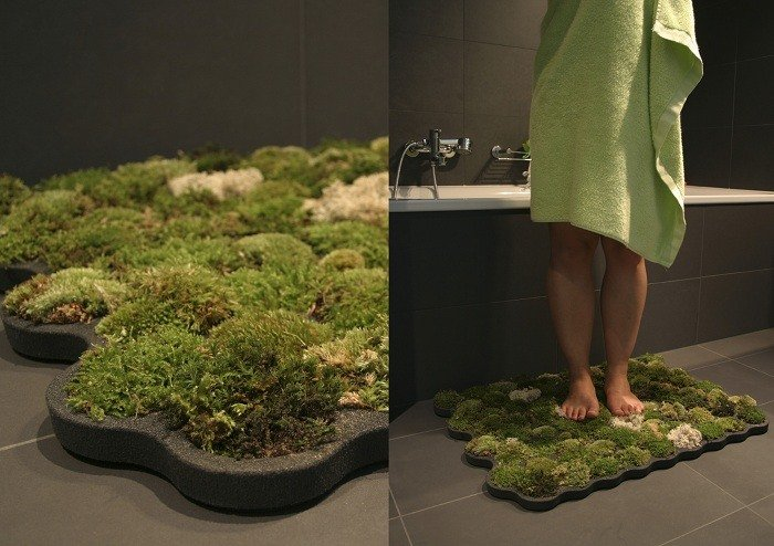 Green Design Moss Bath Mat