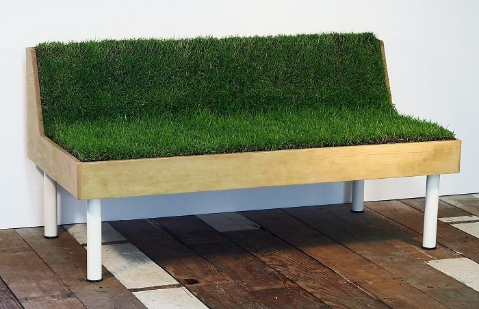 Green Design Moss Bench