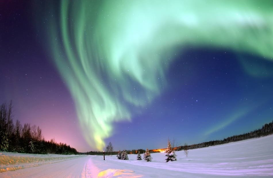 Anjikuni Tribe Northern Lights