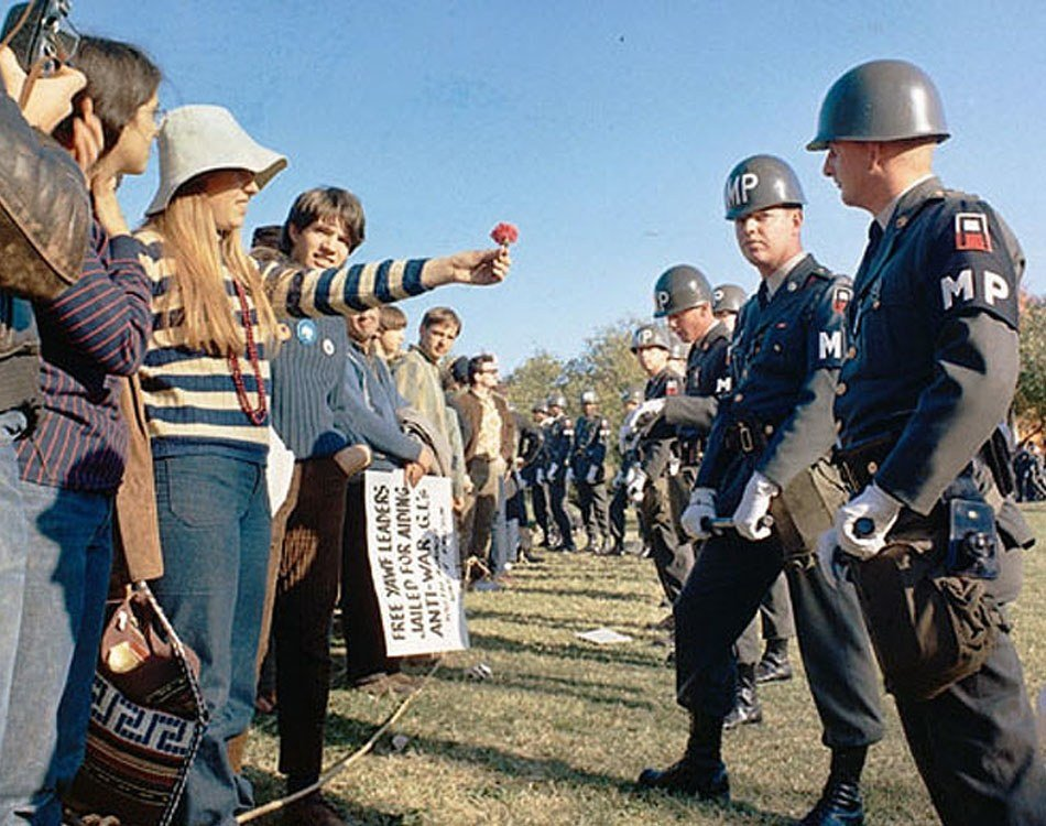 Hippies Protesting In The 1960s