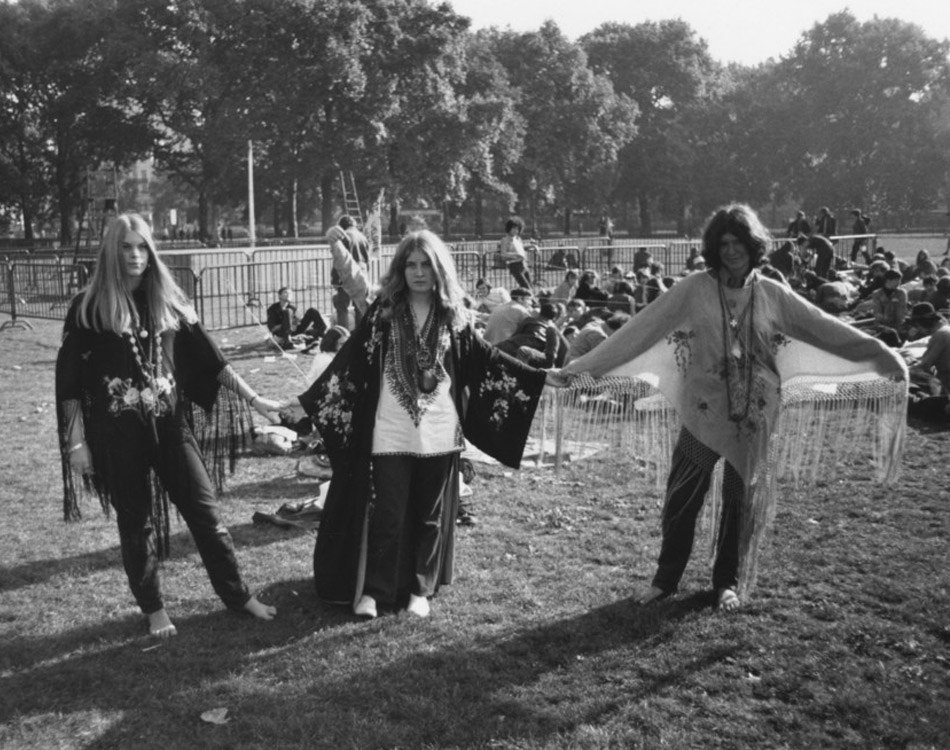 Hippies In Hyde Park San Francisco