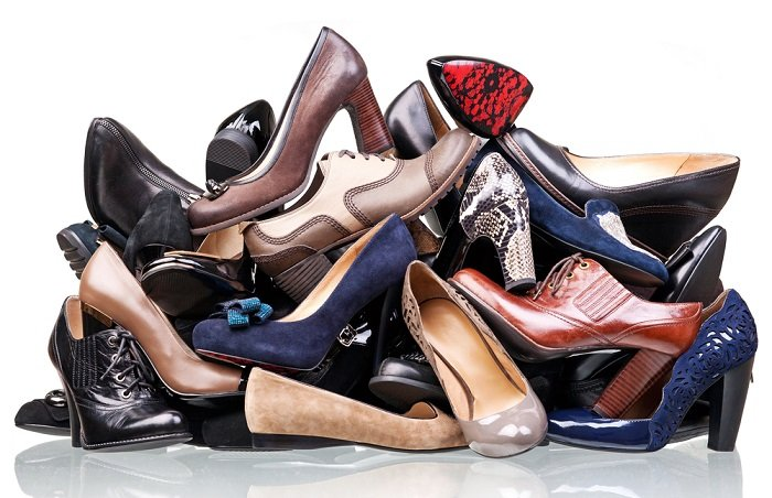 History Of Footwear Pile Of Shoes