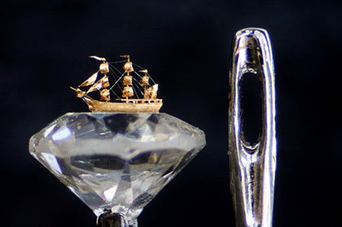 Micro Art Tiny Ship William Wigans Wonderful World Of Micro Art