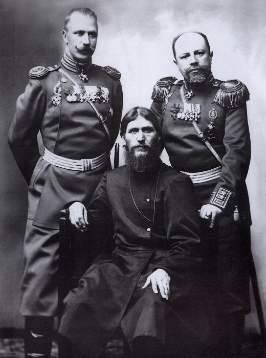 Rasputin With Soldiers