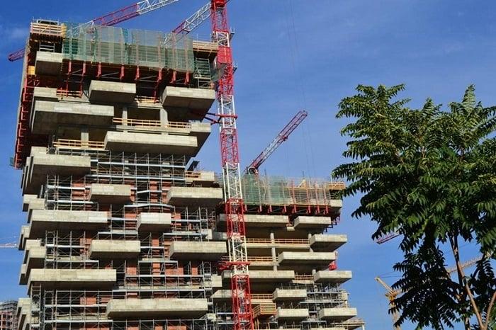 Vertical Gardens Bosco Verticale Construction