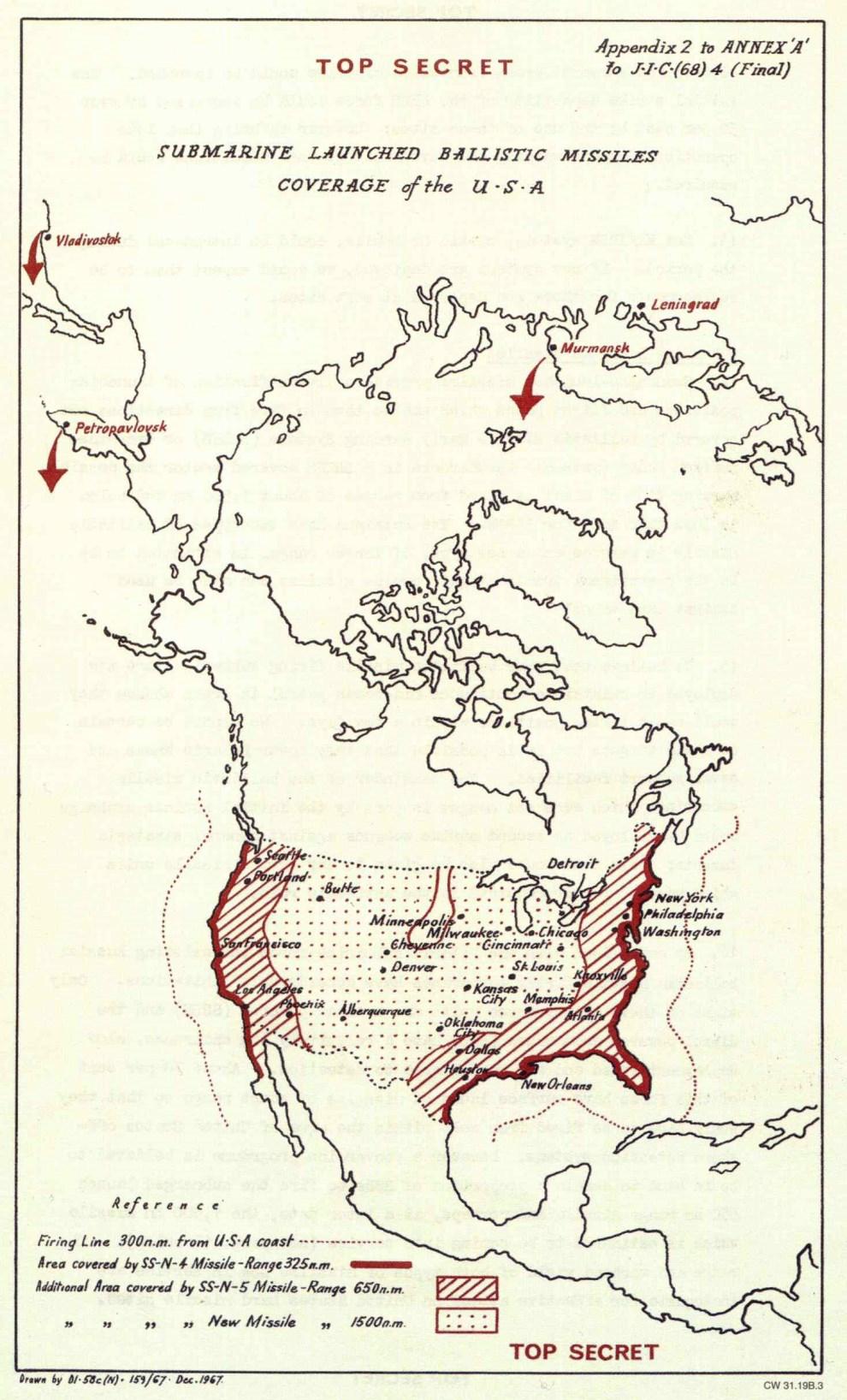 American Regions In Range Of Soviet Submarines