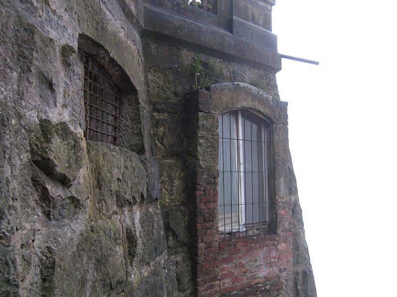 Barred Windows Of Hotel Del Salto