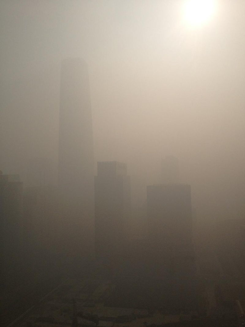 Beijing Smog Photographs