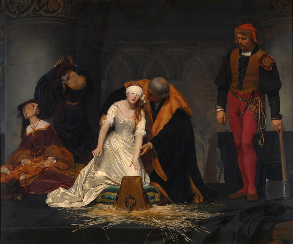 Execution Lady Jane Grey Paul De La Roche
