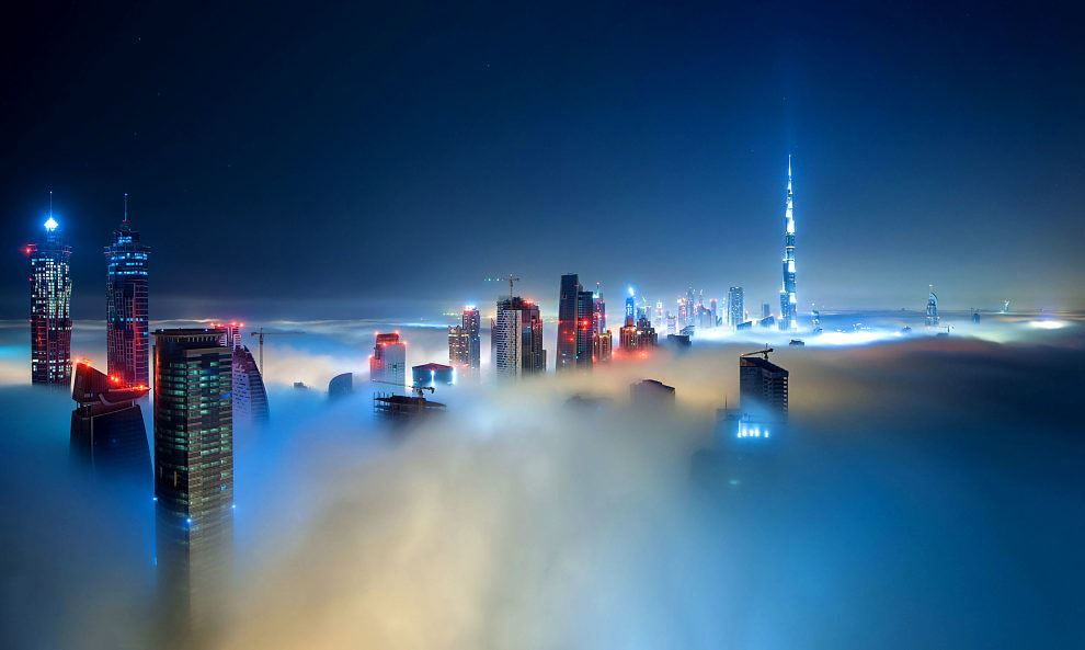 Fog Over Dubai