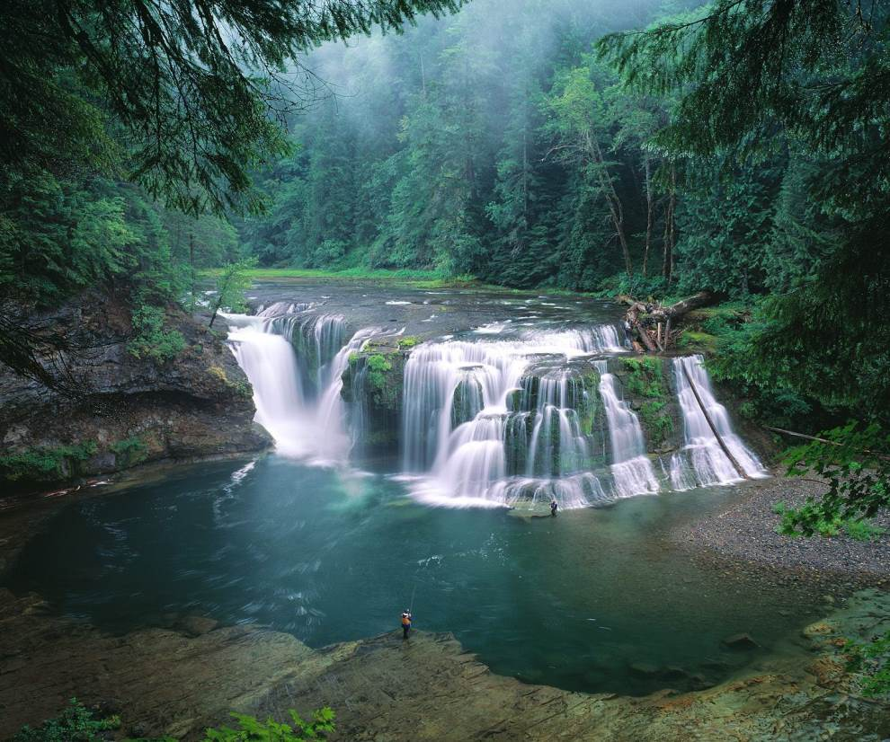 Lower Lewis River Falls Washington