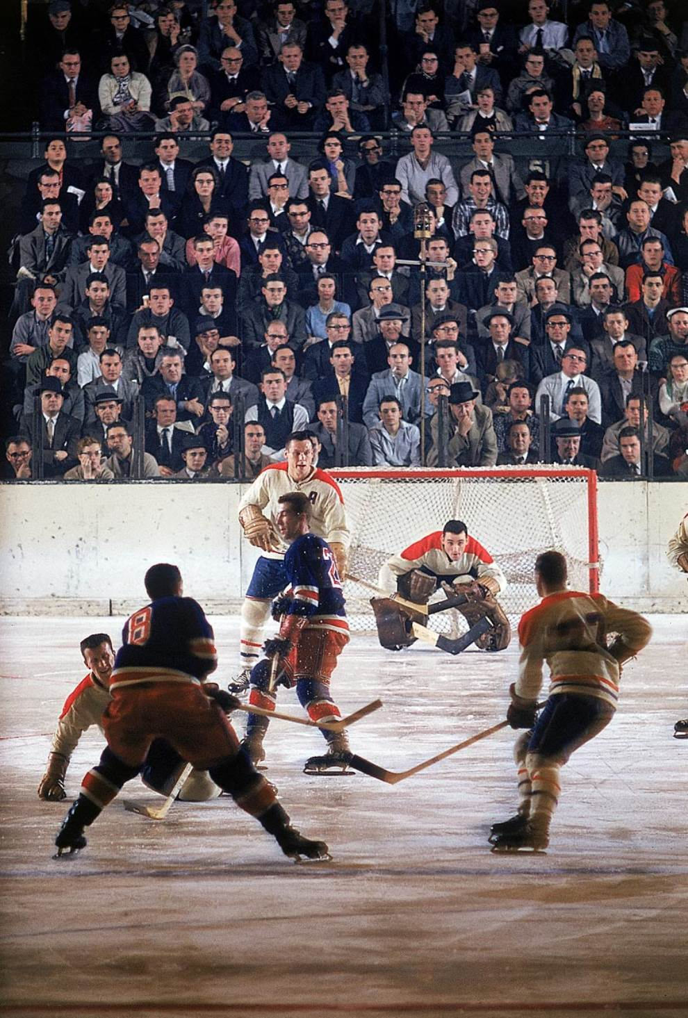 Montreal Canadiens Vs New York Rangers 1957