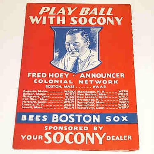 Old Baseball Teams Boston Bees Playbook