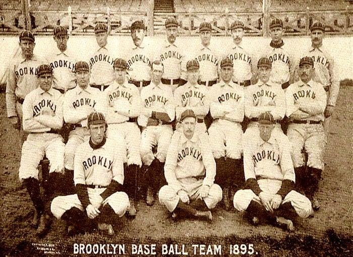 Old Baseball Teams Brooklyn Grooms Team