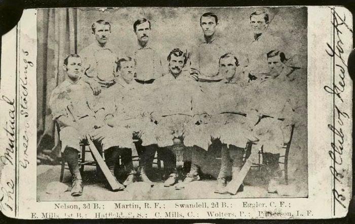 Defunct Baseball Teams NY Mutuals Team