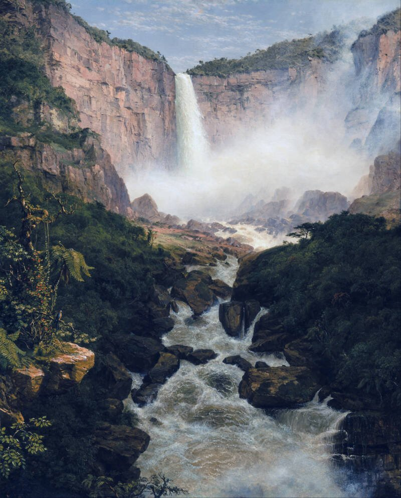 The Fall Of Tequendama Painting