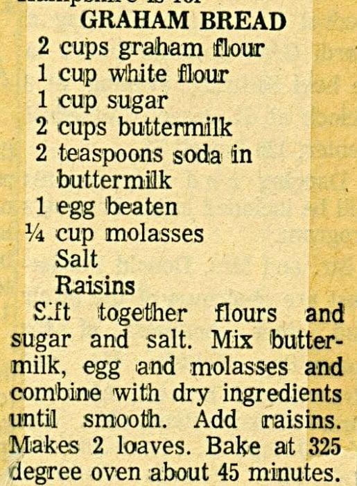 Fad Diets Graham Bread Recipe