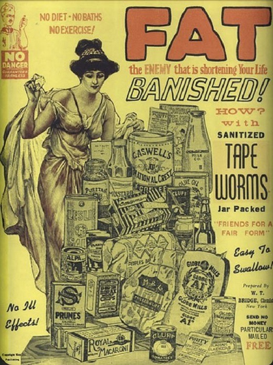 Fad Diets Tapeworm Advertisement