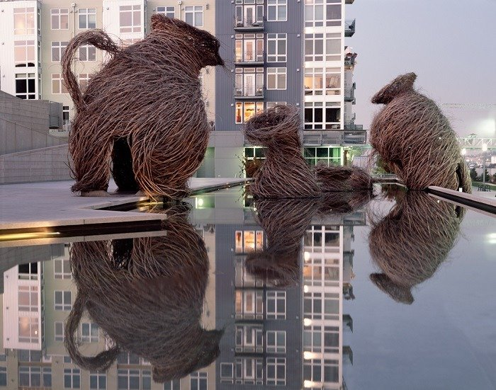 Patrick Dougherty Water Sculpture