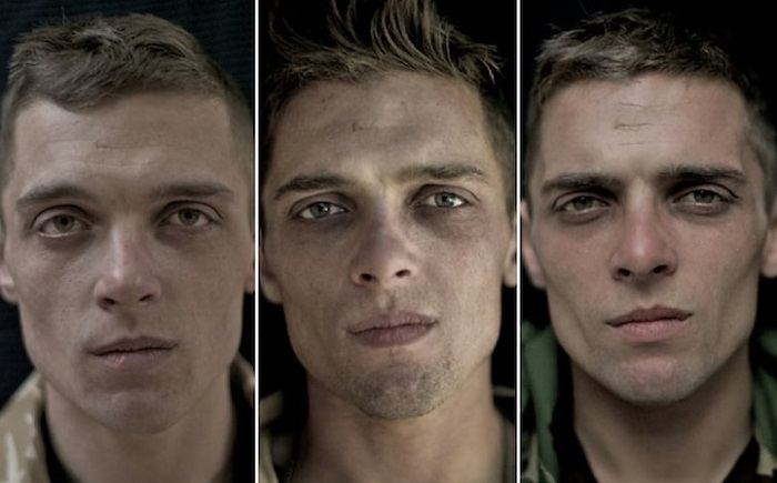 Contemporary Portrait Series Before After War