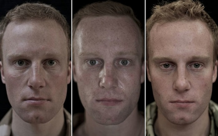 Contemporary Portrait Series Before After War Photographs