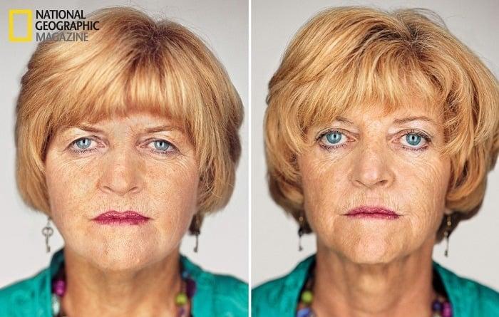 Contemporary Portrait Series Twins Older Women