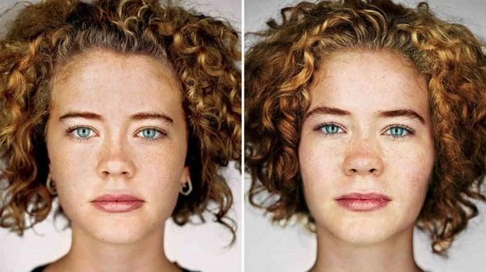 Contemporary Portrait Series Twins Women
